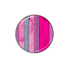 Pink Wood Hat Clip Ball Marker (4 Pack) by Brittlevirginclothing