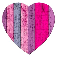Pink Wood Jigsaw Puzzle (heart) by Brittlevirginclothing