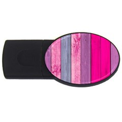 Pink Wood Usb Flash Drive Oval (4 Gb) by Brittlevirginclothing