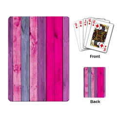 Pink Wood Playing Card by Brittlevirginclothing