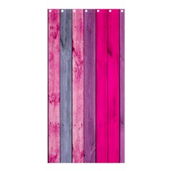 Pink Wood Shower Curtain 36  X 72  (stall)  by Brittlevirginclothing
