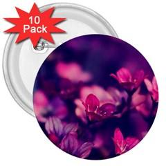 Blurry Flowers 3  Buttons (10 Pack)  by Brittlevirginclothing