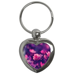 Blurry Flowers Key Chains (heart)  by Brittlevirginclothing