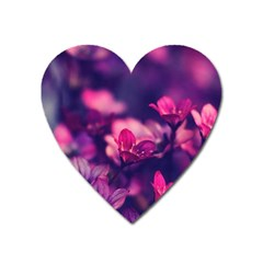 Blurry Flowers Heart Magnet by Brittlevirginclothing