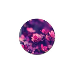 Blurry Flowers Golf Ball Marker (4 Pack) by Brittlevirginclothing