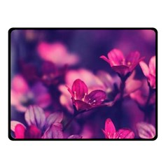Blurry Flowers Fleece Blanket (small) by Brittlevirginclothing
