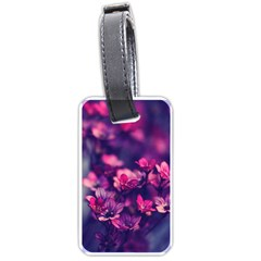 Blurry Flowers Luggage Tags (two Sides) by Brittlevirginclothing