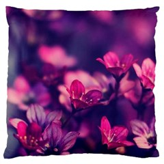 Blurry Flowers Standard Flano Cushion Case (two Sides) by Brittlevirginclothing