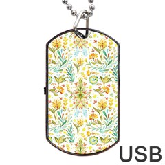 Vintage Pastel Dog Tag Usb Flash (two Sides) by Brittlevirginclothing