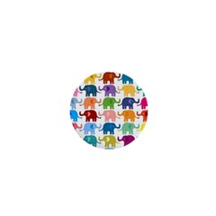 Cute Colorful Elephants 1  Mini Buttons by Brittlevirginclothing