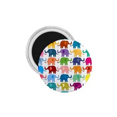 Cute Colorful Elephants 1 75  Magnets by Brittlevirginclothing