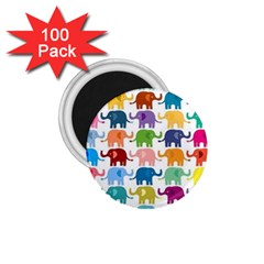 Cute Colorful Elephants 1 75  Magnets (100 Pack)  by Brittlevirginclothing