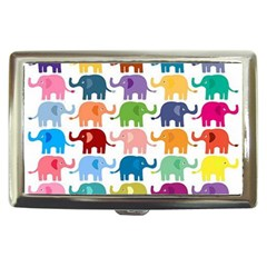 Cute Colorful Elephants Cigarette Money Cases by Brittlevirginclothing