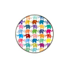 Cute Colorful Elephants Hat Clip Ball Marker by Brittlevirginclothing