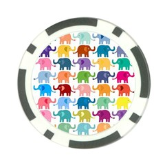 Cute Colorful Elephants Poker Chip Card Guard by Brittlevirginclothing