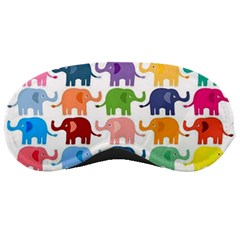 Cute Colorful Elephants Sleeping Masks by Brittlevirginclothing