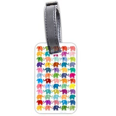 Cute Colorful Elephants Luggage Tags (two Sides) by Brittlevirginclothing