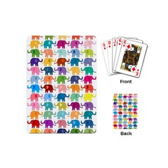 Cute Colorful Elephants Playing Cards (mini)  by Brittlevirginclothing