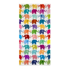 Cute Colorful Elephants Shower Curtain 36  X 72  (stall)  by Brittlevirginclothing