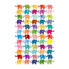 Cute Colorful Elephants Shower Curtain 48  X 72  (small)  by Brittlevirginclothing
