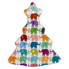 Cute Colorful Elephants Ornament (christmas Tree)