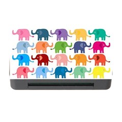 Cute Colorful Elephants Memory Card Reader With Cf by Brittlevirginclothing