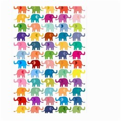 Cute Colorful Elephants Large Garden Flag (two Sides) by Brittlevirginclothing