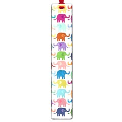 Cute Colorful Elephants Large Book Marks by Brittlevirginclothing