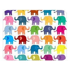 Cute Colorful Elephants Double Sided Flano Blanket (large)  by Brittlevirginclothing