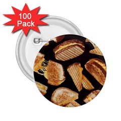 Delicious Snacks 2 25  Buttons (100 Pack)  by Brittlevirginclothing