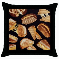 Delicious Snacks Throw Pillow Case (black) by Brittlevirginclothing