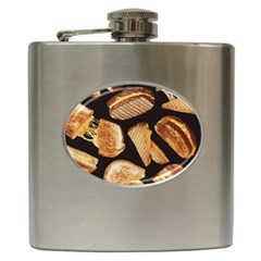 Delicious Snacks Hip Flask (6 Oz) by Brittlevirginclothing