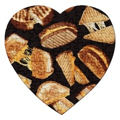 Delicious Snacks Jigsaw Puzzle (heart) by Brittlevirginclothing