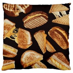 Delicious Snacks Large Cushion Case (two Sides) by Brittlevirginclothing