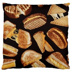 Delicious Snacks Large Flano Cushion Case (two Sides) by Brittlevirginclothing