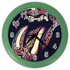 The Rolling Stones  Color Wall Clocks by Brittlevirginclothing