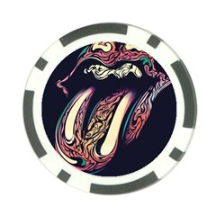 The Rolling Stones  Poker Chip Card Guard by Brittlevirginclothing