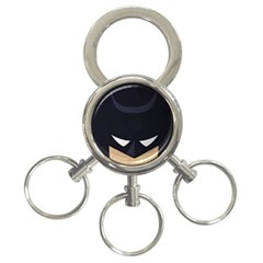 Batman 3 Ring Key Chains by Brittlevirginclothing