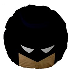 Batman Large 18  Premium Flano Round Cushions by Brittlevirginclothing