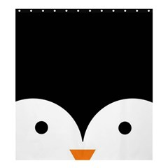 Cute Pinguin Shower Curtain 66  X 72  (large)  by Brittlevirginclothing