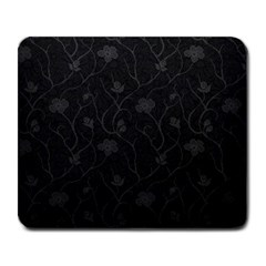 Dark Silvered Flower Large Mousepads by Brittlevirginclothing