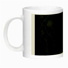 Dark Silvered Flower Night Luminous Mugs by Brittlevirginclothing