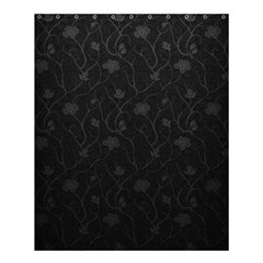 Dark Silvered Flower Shower Curtain 60  X 72  (medium)  by Brittlevirginclothing