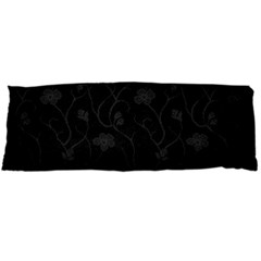 Dark Silvered Flower Body Pillow Case (dakimakura) by Brittlevirginclothing