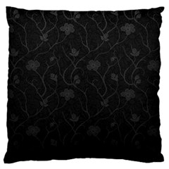 Dark Silvered Flower Large Cushion Case (two Sides) by Brittlevirginclothing