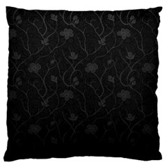 Dark Silvered Flower Large Flano Cushion Case (one Side) by Brittlevirginclothing