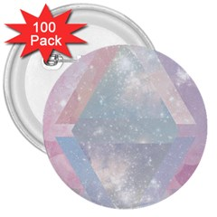 Pastel Crystal 3  Buttons (100 Pack)  by Brittlevirginclothing