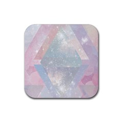 Pastel Crystal Rubber Square Coaster (4 Pack)  by Brittlevirginclothing