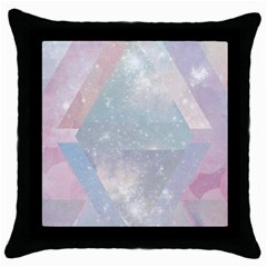 Pastel Crystal Throw Pillow Case (black) by Brittlevirginclothing