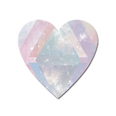 Pastel Crystal Heart Magnet by Brittlevirginclothing